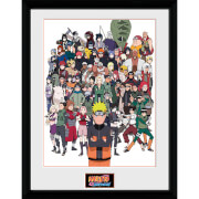Naruto Shippuden Group - 16 x 12 Inches Framed Photograph