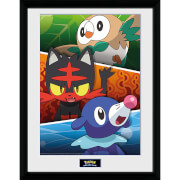 Pokémon Alola Partners - 16 x 12 Inches Framed Photograph