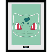 Pokémon Bulbasaur Face - 16 x 12 Inches Framed Photograph