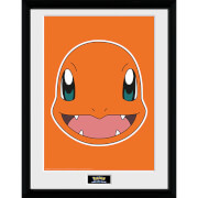 Pokémon Charmander Face - 16 x 12 Inches Framed Photograph