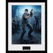 Resident Evil Leon Gun - 16 x 12 Inches Framed Photograph
