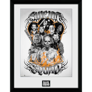Suicide Squad Group Orange Flame - 16 x 12 Inches Framed Photograph