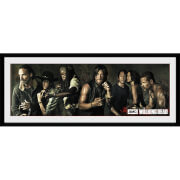 The Walking Dead Survivors - 30 x 12 Inches Framed Photograph