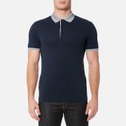 BOSS Green Men's Paule Collar Detail Polo Shirt - Navy