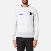 Champion Men's Reversed Crew Neck Sweatshirt - Grey