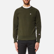 Champion Men's Small Chest Logo Sweatshirt - Khaki