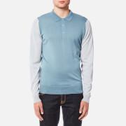 John Smedley Men's Brightgate 30 Gauge Merino Long Sleeve Polo Shirt - Midnight/Black