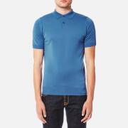 John Smedley Men's Payton 30 Gauge Merino Short Sleeve Polo Shirt - Derwent Blue