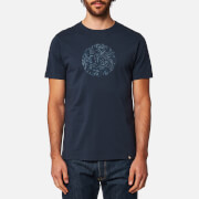 Pretty Green Men's Thornley Paisley Logo T-Shirt - Navy
