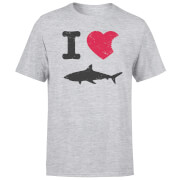 I Love Sharks T-Shirt - Grau