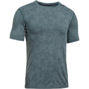 Under Armour Men's Elite Fitted T-Shirt - Blue/Grey