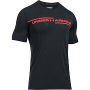 Under Armour Men's Threadborne Cross Chest T-Shirt - Black