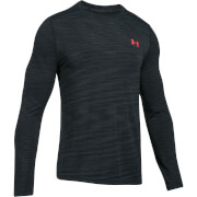 Under Armour Men's Threadborne Seamless Long Sleeve Top - Black/Red