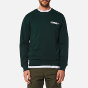 Carhartt Men's College Script Sweatshirt - Parsley/White
