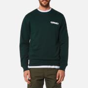 Carhartt Men's College Script Sweatshirt - Parsley/White