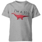 T-Shirt Enfant I'm A Big Brothersaurus - Gris
