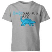 My Little Rascal Kids Babysaurus Rex Grey T-Shirt