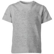 Origami Dinosaur All Over Print Kid's Grey T-Shirt