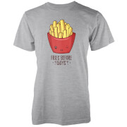 Kawaii Fries Before Guys Grey T-Shirt
