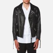 Matthew Miller Men's Tyler Goat Leather Biker Jacket - Black - L - Black