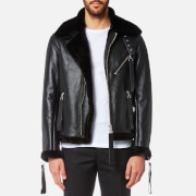 Matthew Miller Men's Hudson Jacket - Lamb Shearling - XL - Black
