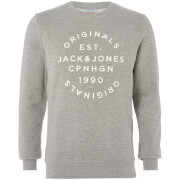 Jack & Jones Originals Men's Soft Neo Sweatshirt - Light Grey Marl - S - Grey