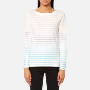 Joules Women's Harbour Jersey Top - Cream Ombre Stripe