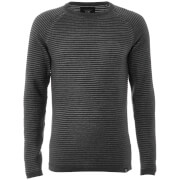 Jack & Jones Core Men's Wind Rib Knitted Jumper - Dark Grey Marl