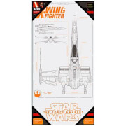SD Toys Star Wars Episode VII Glass Poster - X-Wing Fighter (50 x 25cm)