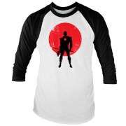 T-Shirt Homme Raglan Valiant Comics Classic Bloodshot Silhouette - Blanc