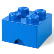 LEGO Storage 4 Knob Brick - 1 Drawer (Bright Blue)