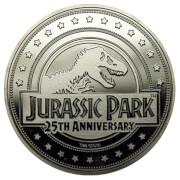 """Pièce de Collection Jurassic Park """"Welcome To"""" - Édition Argentée Exclusive pour Zavvi"""