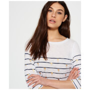 Superdry Women's Conversational Breton Top - Stripe Palm