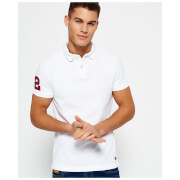 Superdry Men's Classic Emboss Pique Short Sleeve Polo Shirt - Optic White