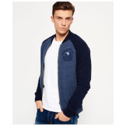 Superdry Men's Applique Bomber Jacket - Flint Navy Marl/Richest Navy