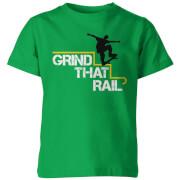 My Little Rascal Kids Grind that Rail Green T-Shirt