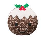 Sass & Belle Smiley Christmas Pudding Cushion