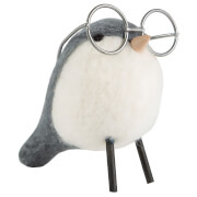 Sass & Belle Wool Bird Wearing Spectacles Standing Decoration