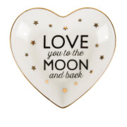 Sass & Belle Love You To The Moon & Back Heart Jewellery Dish