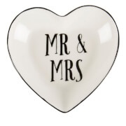 Sass & Belle Mr & Mrs Heart Jewellery Dish