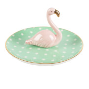 Sass & Belle Tropical Flamingo Jewellery Dish