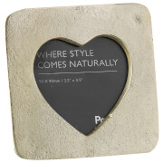 Parlane Heart Aluminium Photo Frame (12 x 12cm) - Champagne Gold