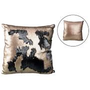 Parlane Two Tone Sequin Cushion (43 x 43cm) - Black/Rose Gold