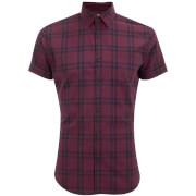 Jack & Jones Originals Fischer Short Sleeve Shirt - Cordovan