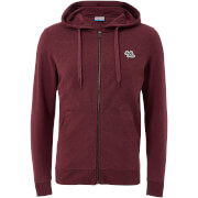 Sweat à Capuche Homme Originals New Lights Fermeture Éclair Jack & Jones - Rouge Cordovan