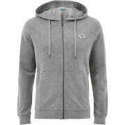 Jack & Jones Originals Men's New Lights Zip Through Hoody - Light Grey Marl