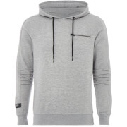 Jack & Jones Core Men's Pat Zip Detail Hoody - Light Grey Marl