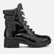 Kendall + Kylie Women's East Leather Lace Up Boots - Black - UK 3 - Black