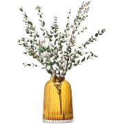 LSA Pleat Vase - 20cm - Amber