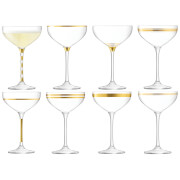 LSA Deco Champagne Saucers - 235ml (Set of 8)